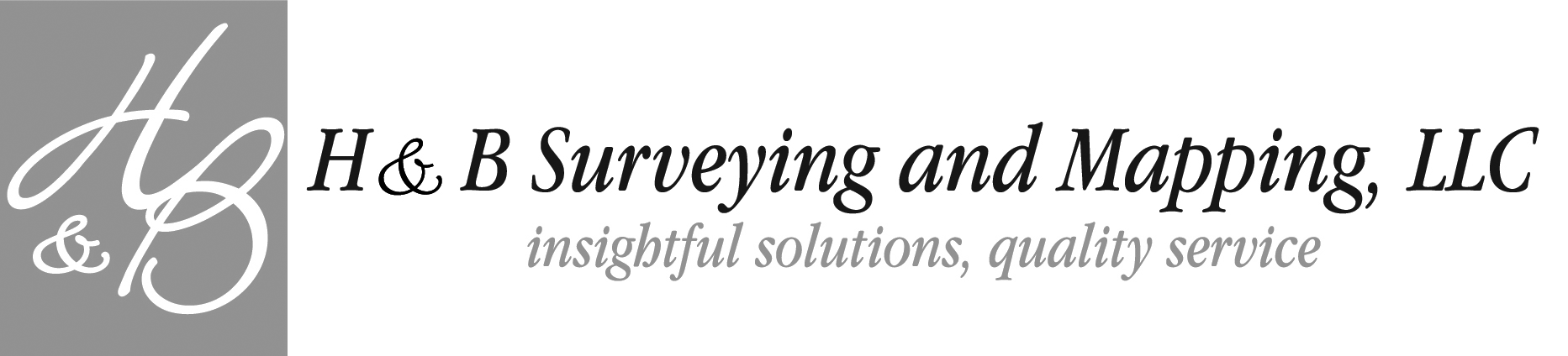 H&B Surveying and Mapping Company Logo